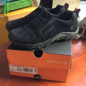 Kids black Merrell Jungle Moc shoes